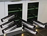 LED Glaskantenbeleuchtung 6-er Komplettset / Glasbodenbeleuchtung / warm weiß / Art. 2275-6 / LED Clip / Metall / Vitrinenbeleuchtung / Glasplattenbeleuchtung