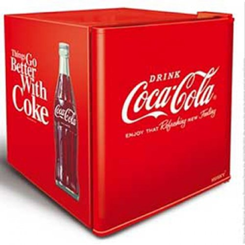 51j12v%2B4t2L. SS500  - Husky HUS-EL196 Coca Cola Design Mini Fridge/Drinks Cooler, Red [Energy Class A+]