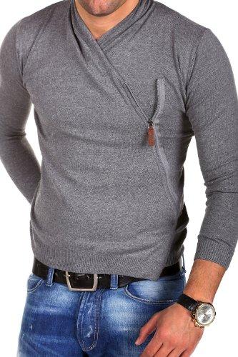 Carisma Strickjacke Side-Zip Pullover 7135 Dunkelgrau