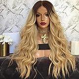 WIGSHER Femmes Blond Longue Frisé Cheveux Perruque Naturel Mode Haute Qualité Résistant À La Chaleur Perruque