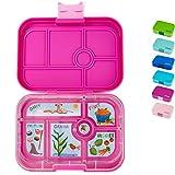 Yumbox Original M Bento Box- mittelgroß, mit 6 Fächern | Lunchbox mit Trennwand Einsatz | Kindergarten Kinder, Schulanfang, Erwachsene (Malibu Purple)