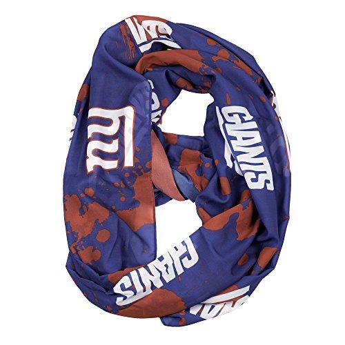 Purchadise NFL Seidig Infinity Schal mit dampfender Design, New York Giants - Giants-stoff York New
