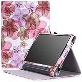 Lenovo Yoga Tab 3 pro Funda - MoKo Slim Folding Cover Funda para Lenovo Yoga Tab 3 Pro 10.1 Inch Tablet, Floral Violeta