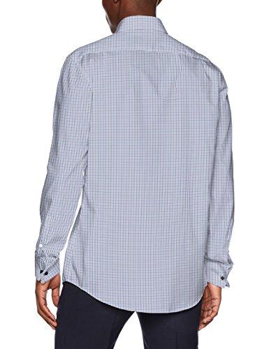 Seidensticker Herren Businesshemd Modern Umschlagmanschette Blau (Blau 17)