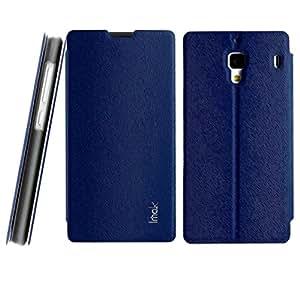 Jo Jo Imak Squirrel Pattern Premium Luxury Pu Leather Flip Stand Hard Back Case Cover For Xiaomi Redmi 1S Blue