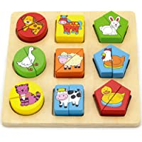 Viga Toys – Wooden Puzzle With Geometric Shapes
