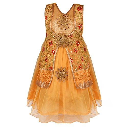 Wish Karo baby girls Long Frock party wear Dress DN LF54rd-4-5 Yrs