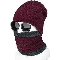 NZDHER Cappello Uomo Cappello di Lana A Tinta Unita Cappello Sciarpa  Cappello Invernale Uomo E Donna 9000c2798817