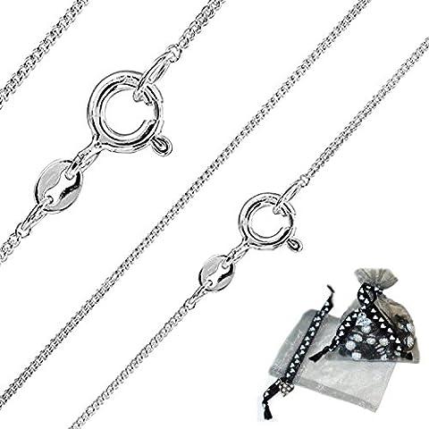 Solid Genuine Italian 925 Sterling Silver 1.1mm Diamond Cut Curb Chain /16
