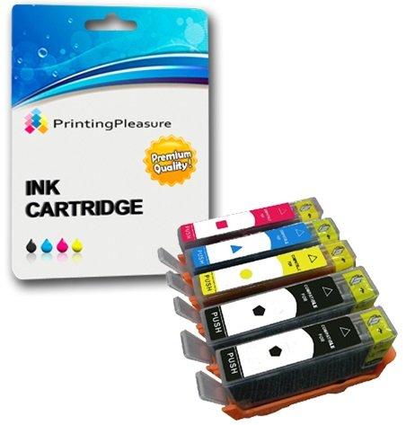 Printing Pleasure 5 Druckerpatronen für HP Deskjet Ink Advantage 3525, 4615, 4625, 5525, 6525 e-All-in-One | kompatibel zu HP 655