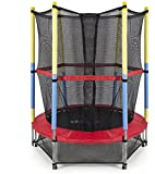 Trampoline 54 Inches with Safety Net for Kids (Colour May Vary) with 4 Inches Soft Toy Ball at amazon