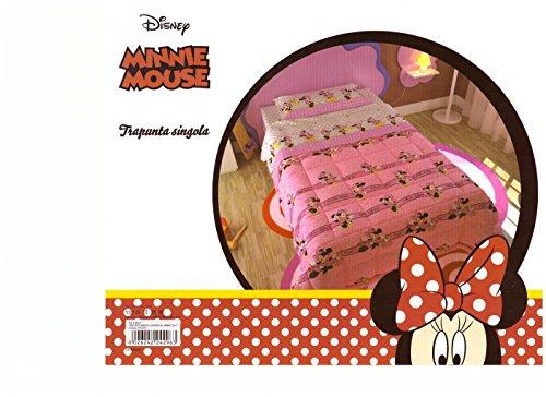 Bettdecke Steppdecke Winter Einzelbett Mädchen Disney Minnie 180x 260cm Tagesdecke