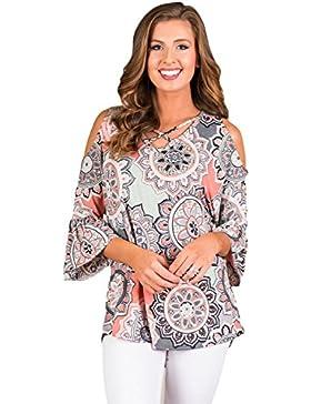 Akalili - Camisas - camisa - Floral - Manga corta - para mujer