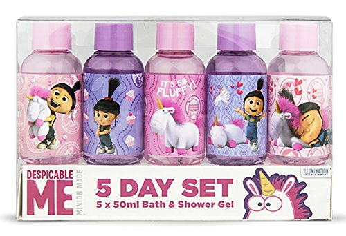 Image of Despicable Me 5-Day Shower Gel and Bubble Bath Set