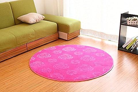 Sannix Motif 3d Fleur Rose Zone Shaggy Tapis et Moquette Super Doux Chambre à coucher Tapis rond pour enfants Play, Rrose, 200CM