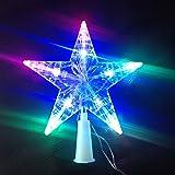 Luce LED a forma di stella, per punta albero (HC Enterprise-S012)