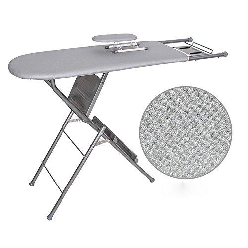 QFFL table à repasser Planche à repasser double usage ménager Planche à repasser en acier renforcé Planche à repasser à double usage 4 couleurs disponibles 125 * 85cm Défroisseur (Couleur : C)