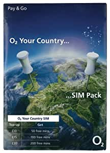 O2 International Pay As You Go Sim Card