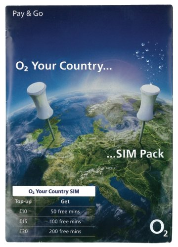 UK United Kingdom International Sim Card SIM Karte on the o2 Network (Tmobile Sim Iphone 4)