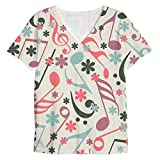 Snoogg Music Strings Mens Casual V Neck All Over Printed T Shirts Tees Amazon