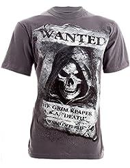 Spiral Direct Wanted T Shirt (Gris)