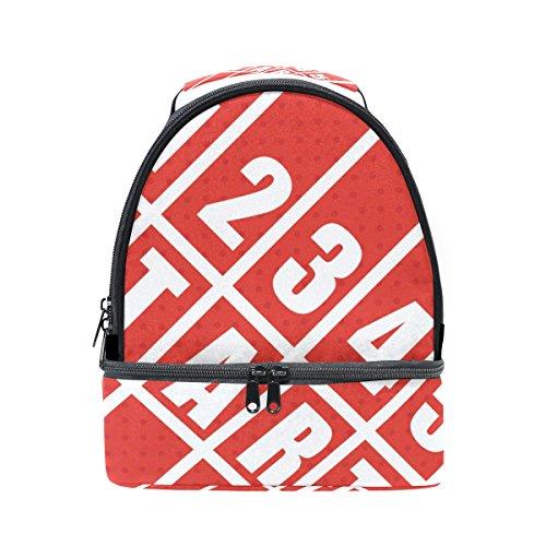 Tizorax fitness track field sports lunch bag lunch box picnic borsa scuola borsa termica per unisex bambini