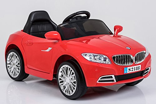 Ricco S2188 Red Kids Coupe BMW Style Ride on Car with LED Lights Music Parental Remote Control