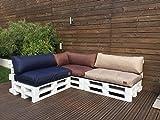 Palettenkissen Palettenauflage Sitzkissen Palettensofa Kissen Euro Polster Paletten Outdoor MH-GD02 (120x40x10/20 cm Rückenkissen, Grau)