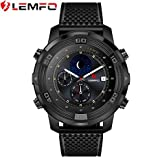 Lemfo LEM6 Android 5.1 Smart Watch Waterproof GPS Tracker 1GB + 16GB Smartwatch with Replaceable Strap, Black