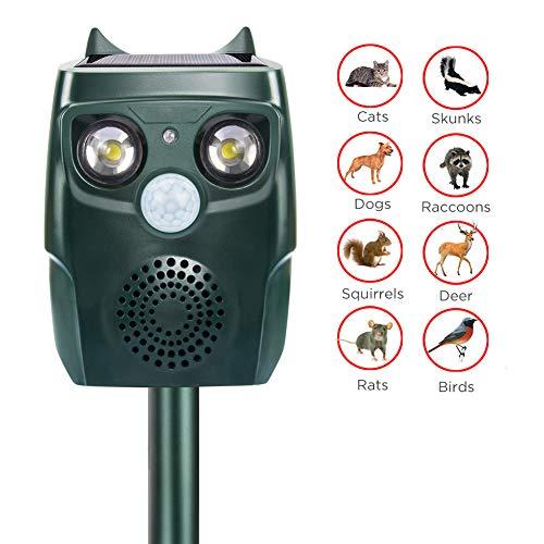 LQFLD Outdoor Solarbetriebene Ultraschall Wildtier Repeller Hund Katze Vogel Elefant AFFE Abwehrmittel Abschreckung -