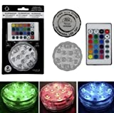 Michel Toys LED Unterwasserlicht 10 LED's, mit Farbwechsel + Fernbedienung, batteriebetrieben