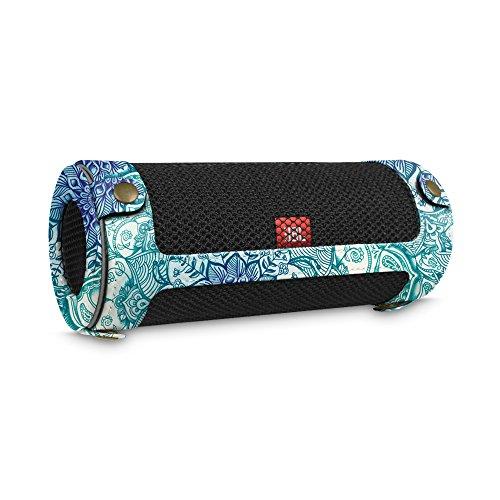 Fintie JBL Flip 4 Tragbare Lautsprecher Hülle Abdeckung - Hochwertiges Kunstleder Schutzhülle Tasche Case mit Karabinerhaken für JBL Flip4 Tragbare Lautsprecher, Smaragdblau