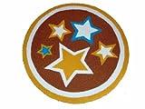 Large Handmade Childrens Circular Star Rug - Superb Quality