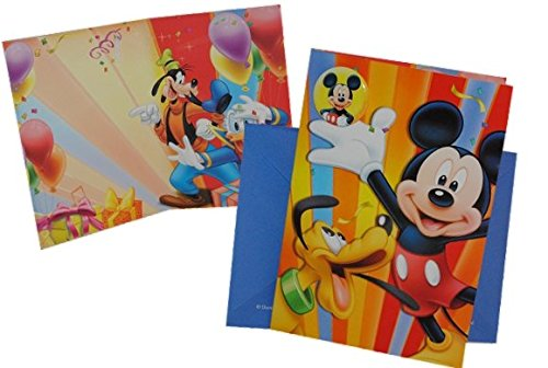 Glückwunschkarte mit Umschlag - und Ansteck Pin - Mickey Mouse Karte Grußkarte - 3-D Geburtstagskarte für Kinder / Mädchen Jungen Entenhausen Playhouse (Happy Birthday Meine D)