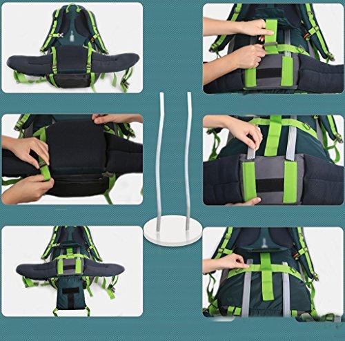 HWLXBB Outdoor Bergsteigen Tasche Schulter Rucksack Männer Und Frauen Gehen Auf Der Sichuan-Tibet Linie Große Kapazität Rucksack 70L Rucksack Grün