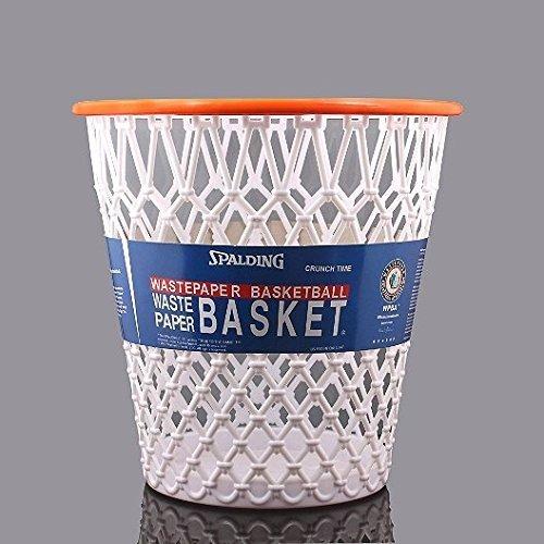 Preisvergleich Produktbild Basketball Net Crunch Time NBA Design Wastebasket White One Size by Spalding