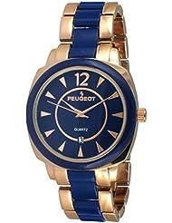 Reloj del vestido de las mujeres 7096RBL rosa de oro y azul reloj de pulsera