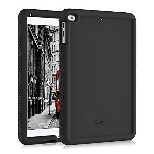 Fintie Nuovo iPad 2018 2017 9.7 Pollici, iPad Air 2, iPad Air Cover - Antiurto Kids Friendly Drop Protettiva Silicone Custodia Case per Apple iPad 9,7 2018 2017, iPad Air 1 2, Nero