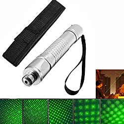 HITSAN 532nm Powerful Visible Beam Green Light Laser Pointer With Cloth Cover One Piece