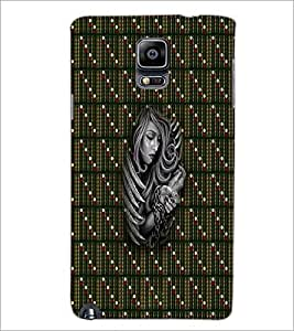 PrintDhaba Strapped Girl D-3006 Back Case Cover for SAMSUNG GALAXY NOTE 3 (Multi-Coloured)