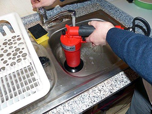 Rothenberger IndustrialPressluft Rohrreiniger (4 bar) zur Reinigung verstopfter Abflüsse im Bad oder WC - 4