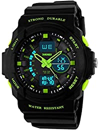 Skmei Analogue-Digital Black Dial Men's & Boy's Watch(Skm-955-Green-01)
