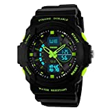 Skmei Analogue-Digital Black Dial Men's & Boy's Watch(Skm-955-Green-01)