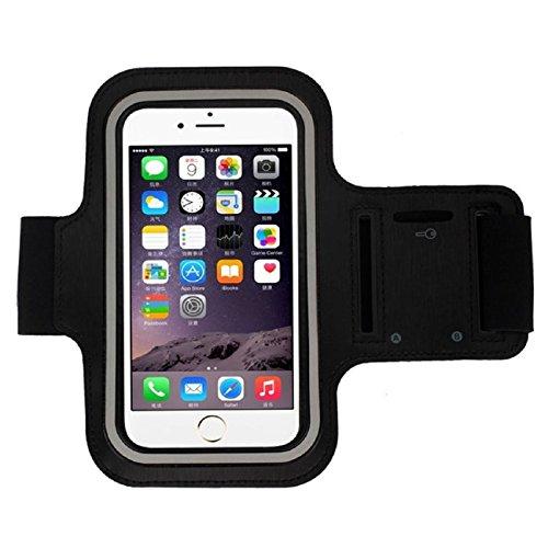 Fascia da braccio per cellulare: :ustodia esercizio e jogging centro di allenamento porta cellulare per iPhone 6, 6 Plus +, 5, 5S, 5C, 4, 4S, 3 G, 3GS/Samsung Galaxy S6, S5, S4, S4 Active, S4 Mini, S3, S3 Mini, S2, Note 1, 2, 3, 4/iPod touch 3, 4, 5/HTC ONE x, ONE S Z520E, Windows phone 8 (at&t, T-Mobile, Verizon)/Motorola DROID RAZR/LG G2/G3, Nexus 4/Nexus 6, P760/Nokia Lumia 920, 820/Sony Z1 Z2 Z3, IPX8 certificato, Nero