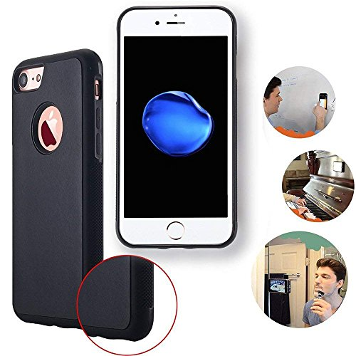 Coque Protection Anti-gravité pour iPhone 8 / iPhone 7, Anti-Gravity Selfie Housse Hands Free Nano Ventouse Suction iPhone 7 8 Case Stick to Glass, Tile, Car GPS, Most Smooth Surface