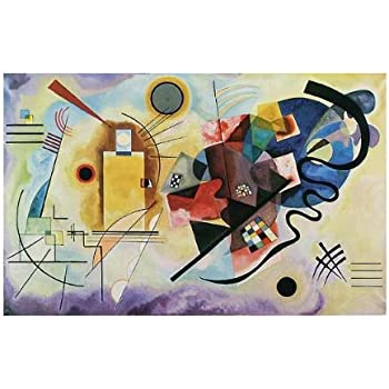 kunstdruck poster wassily kandinsky gelb rot blau 1925 hochwertiger druck bild. Black Bedroom Furniture Sets. Home Design Ideas