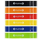#4: Fitlethic Exercise Resistance Workout Mini Loop Bands and Mesh Carrying Bag for Home Fitness, Stretching, Physical Therapy, Yoga - Pack of 6