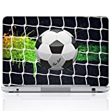 Meffort Inc Personalized Laptop Notebook Notebook Skin Sticker Cover Art Decal, Customize Your Name (15.6 Inch, Soccer)
