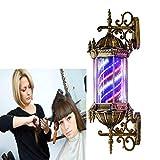 YOLL Barber Pole Enseigne Lumineuse pour Barbier Shop,Vintage Poteau De Coiffeur Salon LED Poteau De Barbier Signe Rouge Blanc Bleu Bandes Mur Lamp du Palais Romain 73cm / 28.7pouces