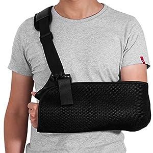 HEALIFTY Armschlinge – Schulter-Wegfahrsperre für gebrochenen gebrochenen Arm – Justierbarer Arm, Schulter-Rotator-Manschetten-Stützklammer – für Riss, Luxation, Verstauchungen und Dehnungen